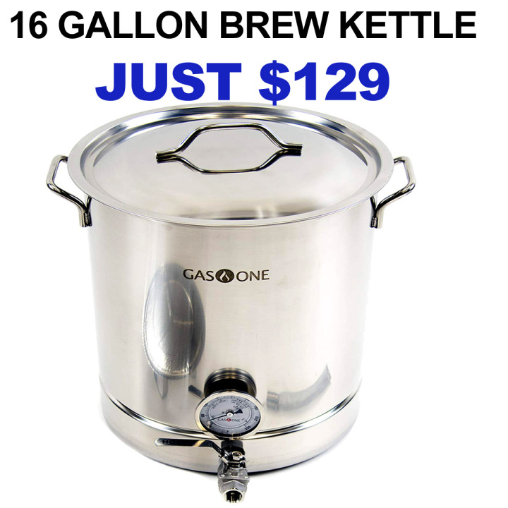 Amazon Get A New 16 Gallon Stainless Steel Home Brew Kettle Just $129 with FREE Shipping Coupon Code