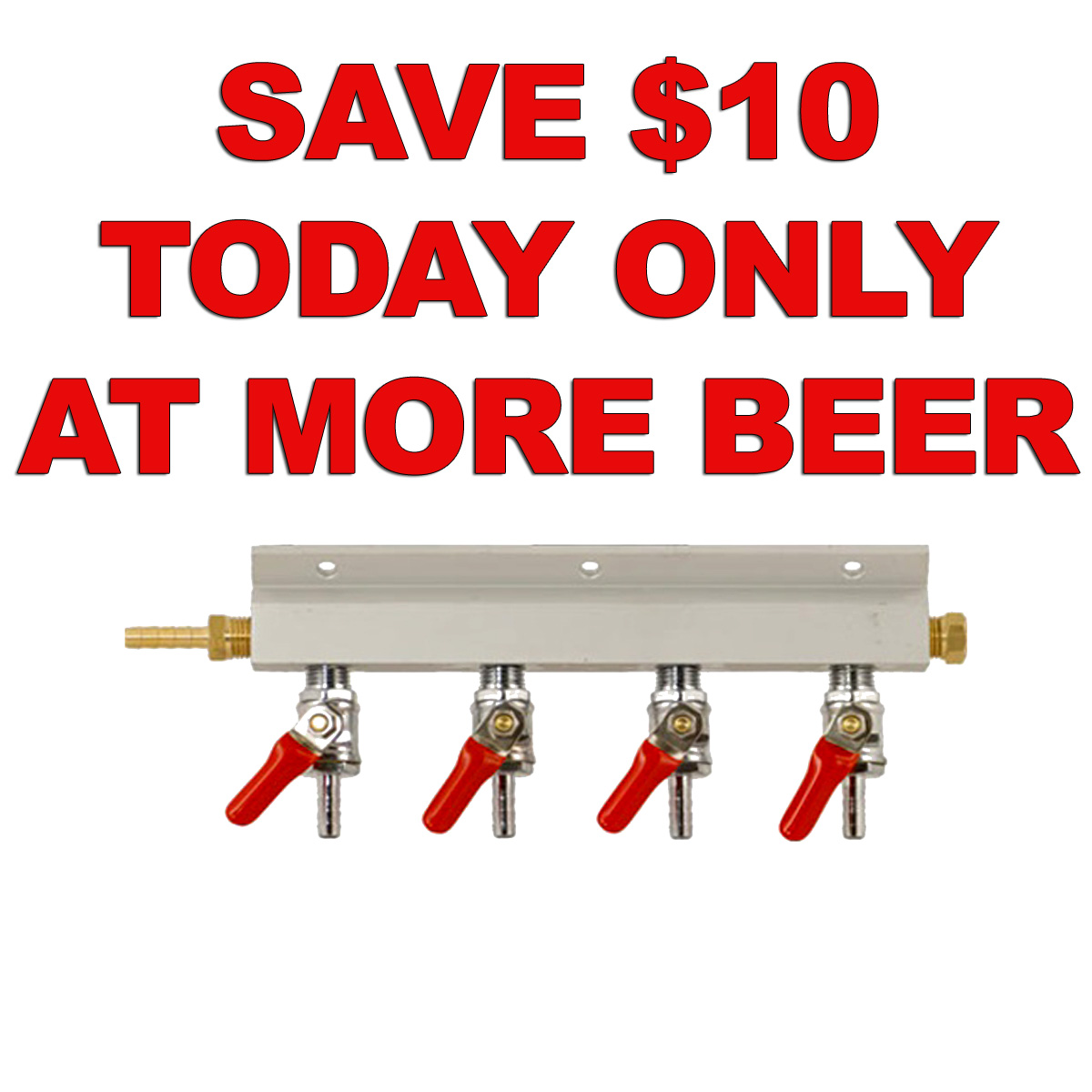 MoreBeer Savve $10 On This 4-Way CO2 Manifold Just $24 With More Beer Promo Code Coupon Code
