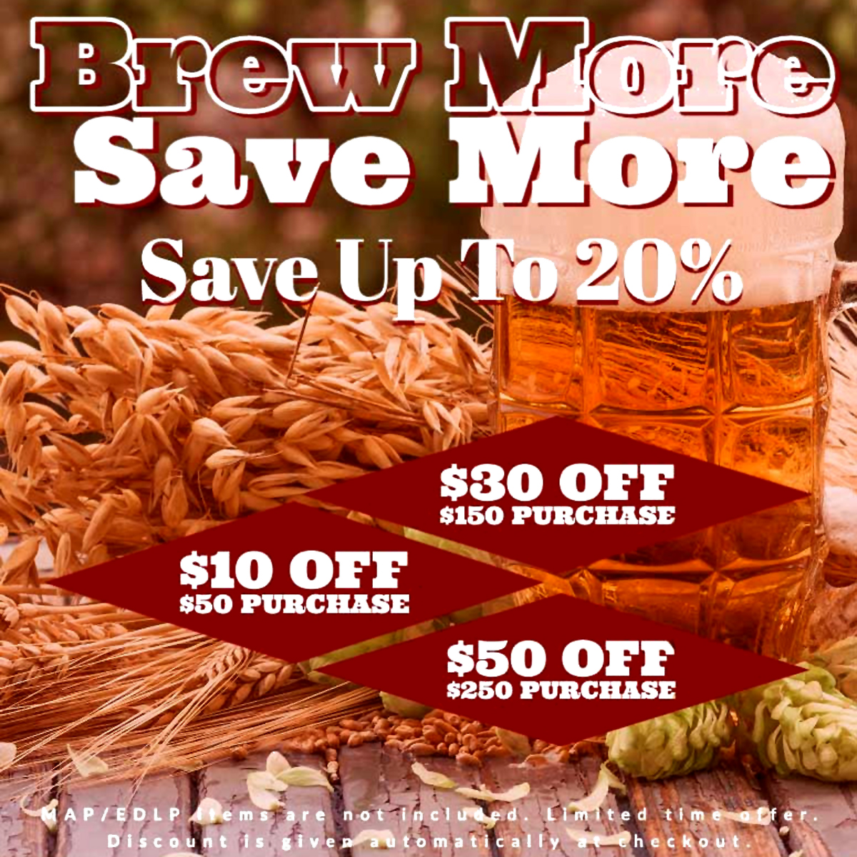 Adventures In Homebrewing Save $50 On Your Purchase and Get FREE SHIPPING at Aventures in Homebrewing With This Promotion Coupon Code