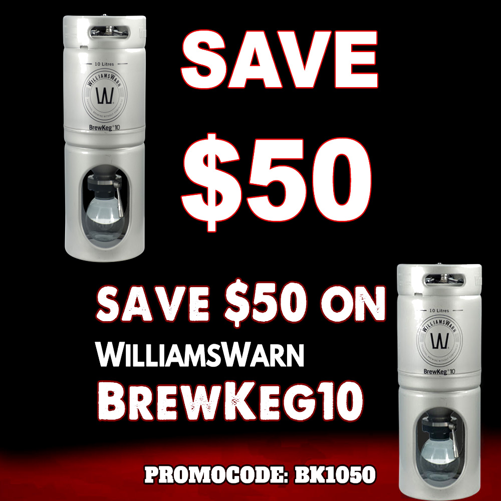 Save $50 On The Brewkeg10 At MoreBeer Sale