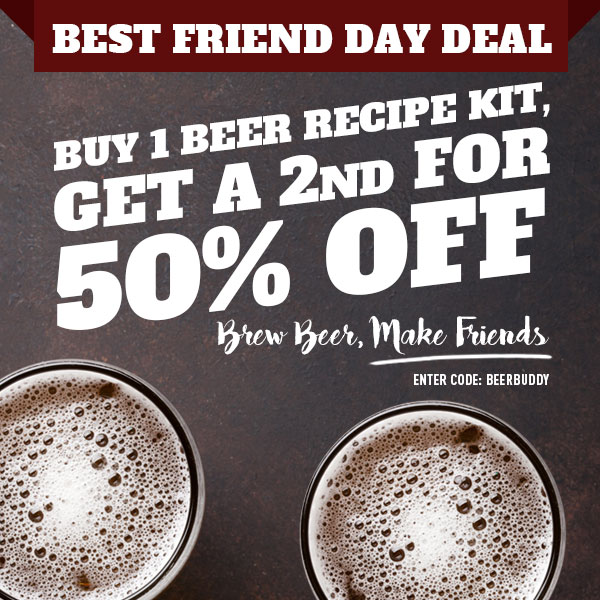 BUY A NORTHERN BREWER BEER KIT AND GET A SECOND HALF OFF Coupon Code