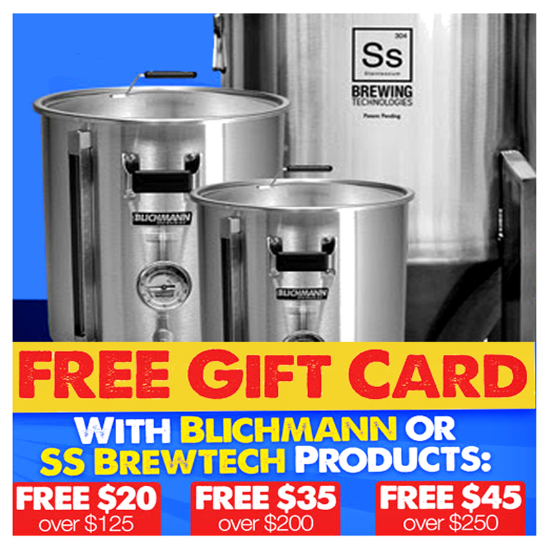 Save up to $45 On Blichmann and SS BrewTech Homebrewing Equipment Coupon Code