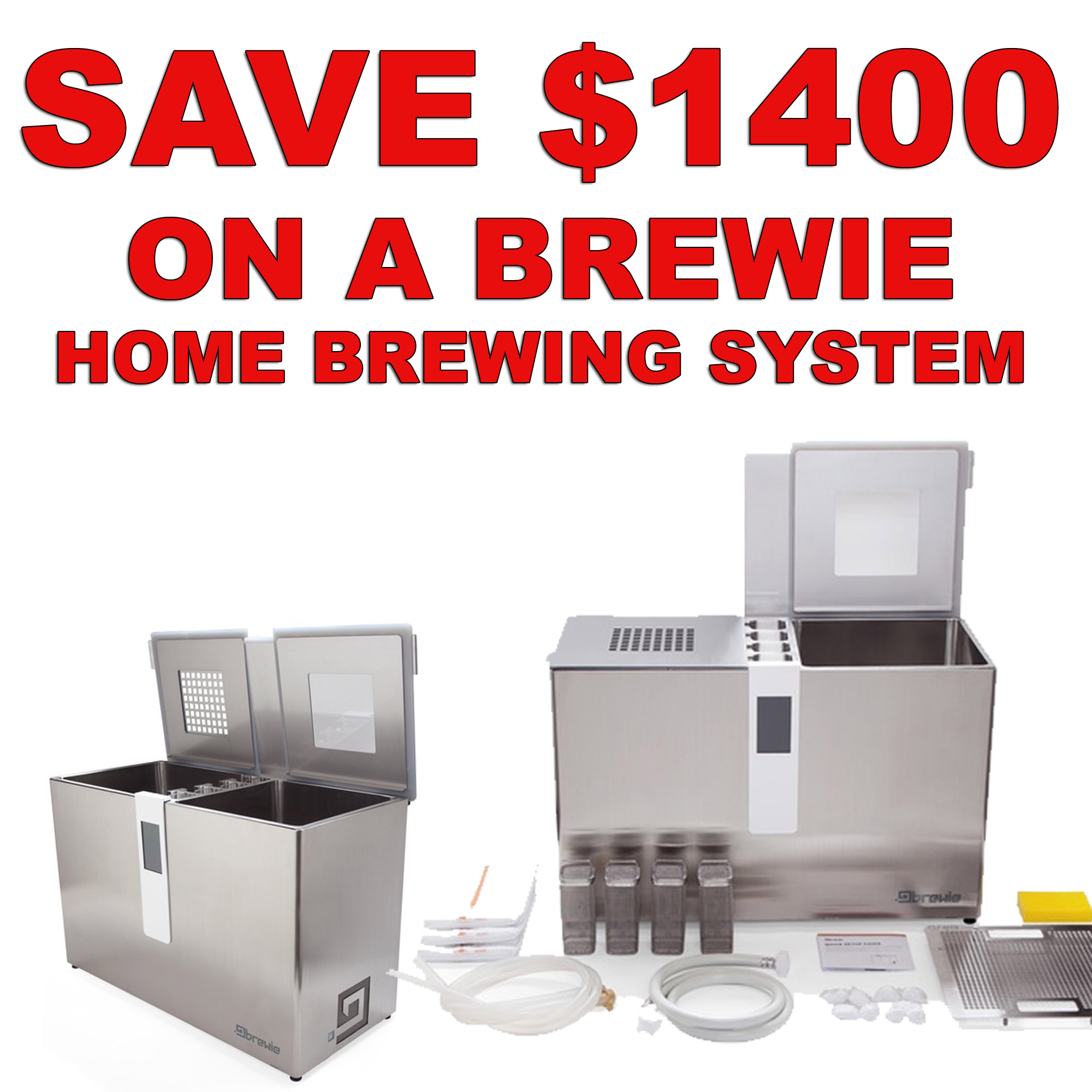 MoreBeer Save $1,400 On A Brewie Home Brewing System MoreBeer Black Friday promo code BEERDEAL Coupon Code