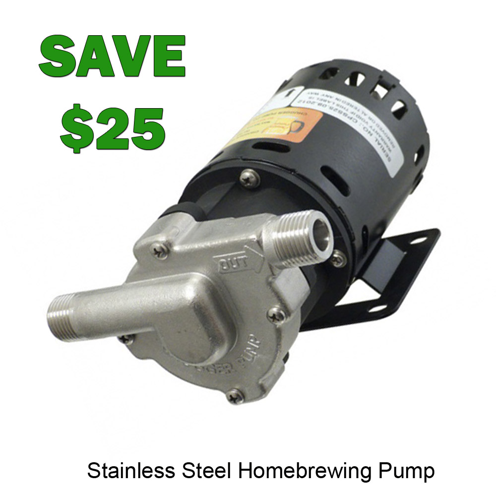 Save $25 On A Stainless Steel Home Brewing Pump Coupon Code