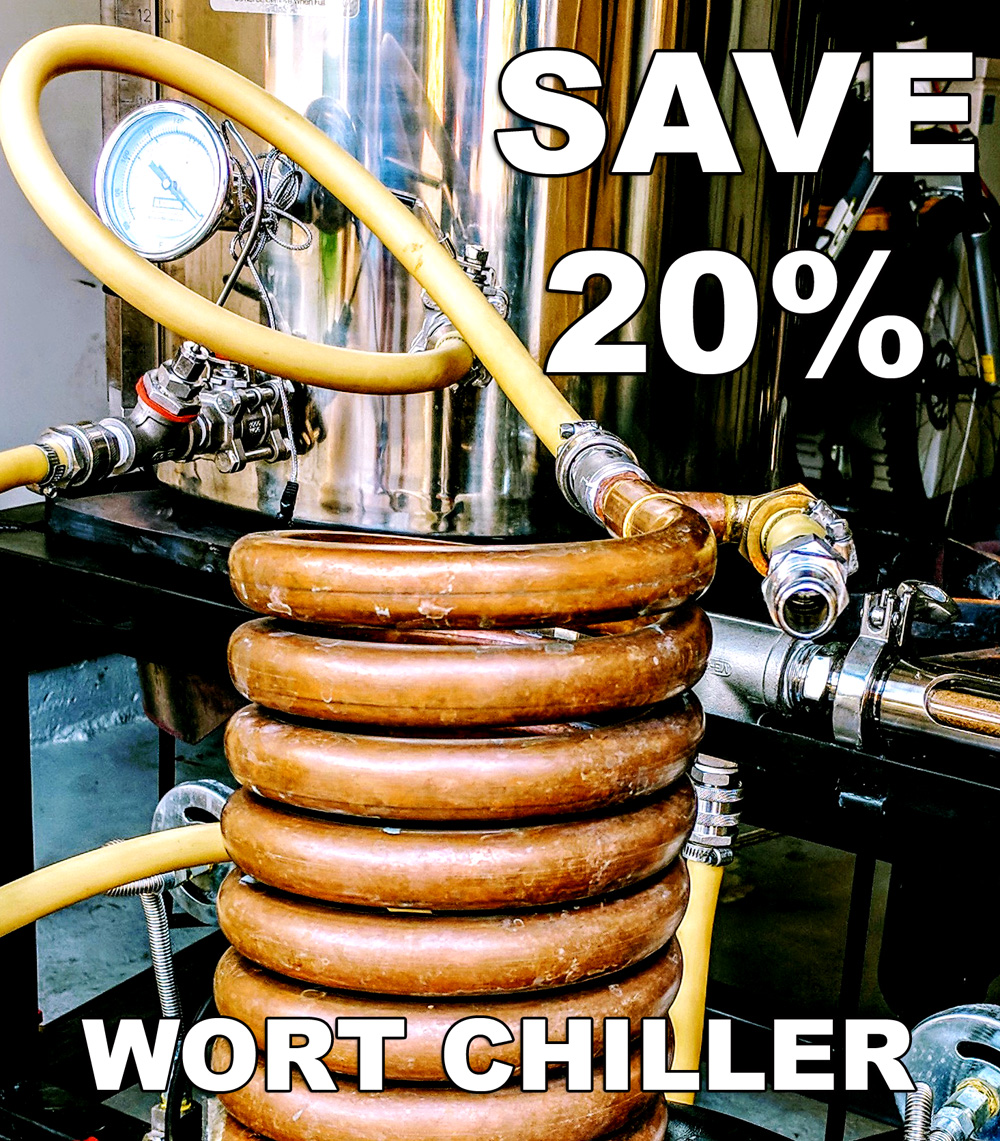Save $40 On A Copper, Convoluted Homebrewing Counterflow Wort Chiller Coupon Code