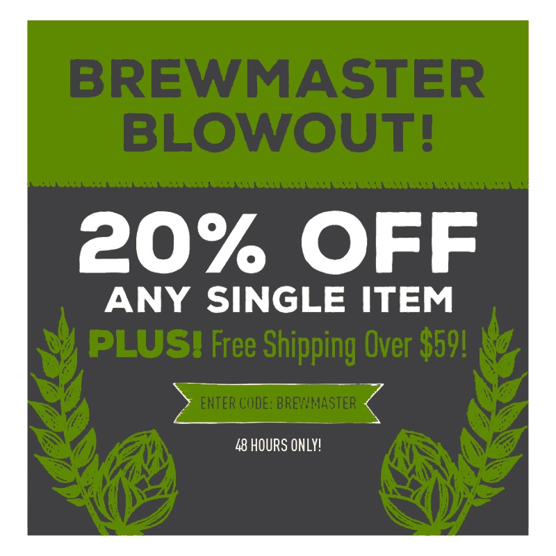 Take 20% OFF One Homebrewing Item Coupon Code