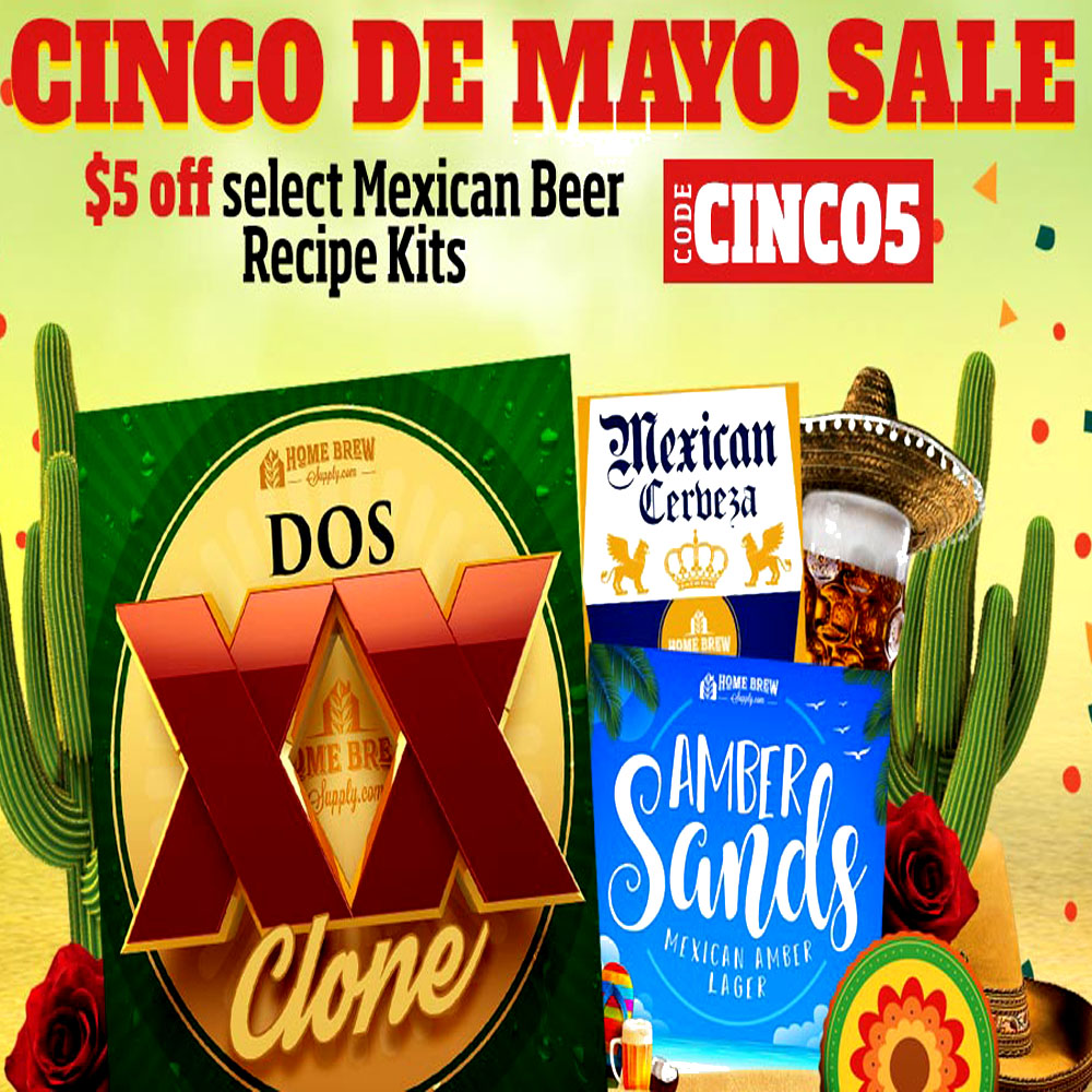 Save $5 Off Select Mexican Beer Kits! Promo Codes