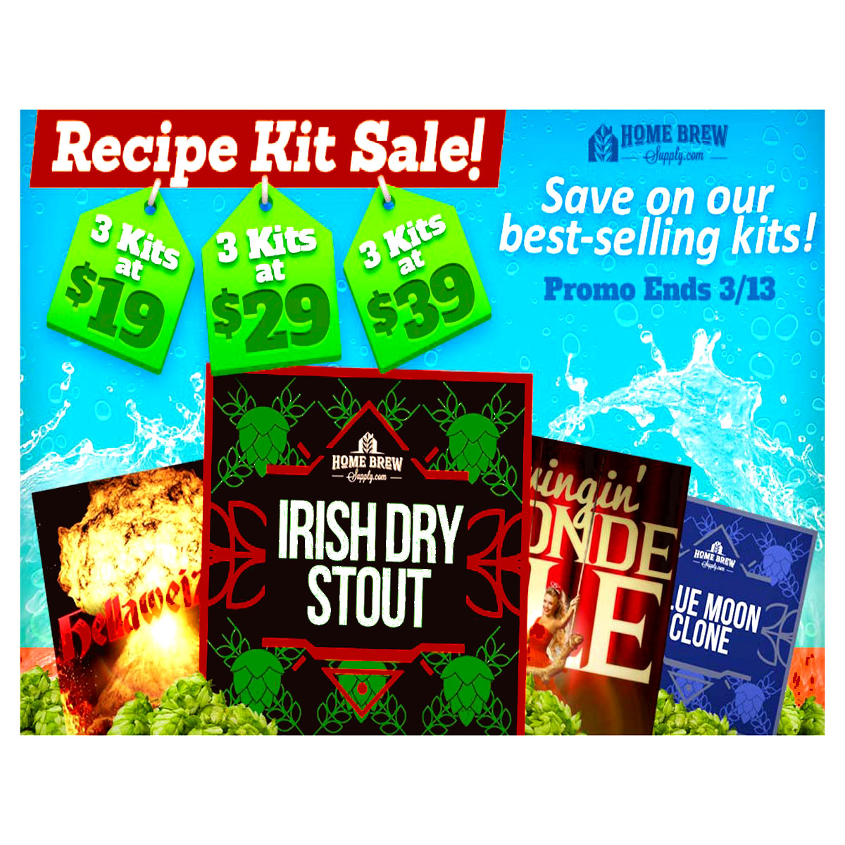 Homebrew Recipe Sale , 5 Gallon Beer Kits as low as $19 Coupon Code