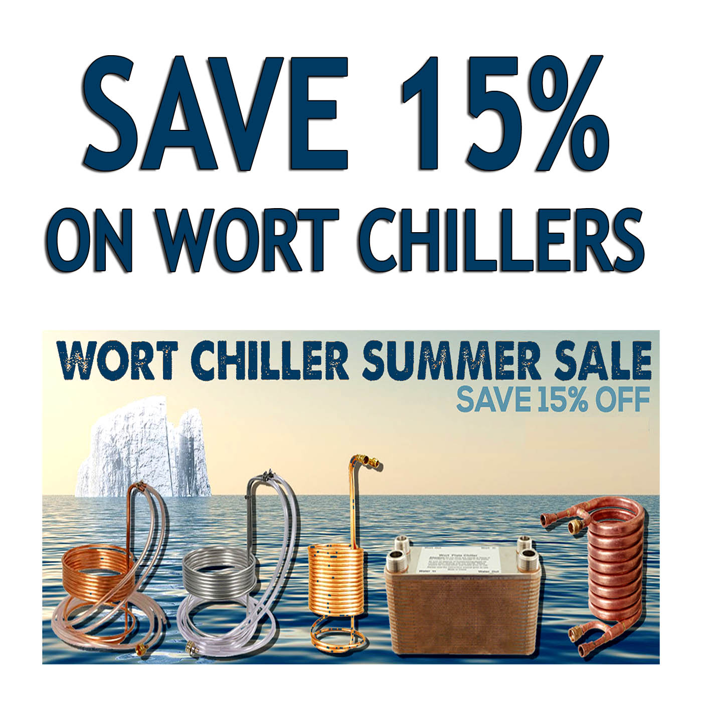Save 15% on Wort Chillers with this MoreBeer.com Promo Code Coupon Code