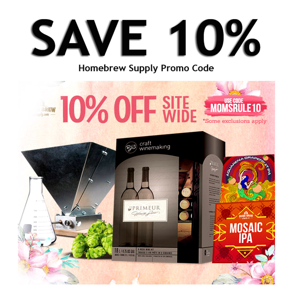 Save 10% Sitewide at HomebrewSupply.com with Coupon Coupon Code