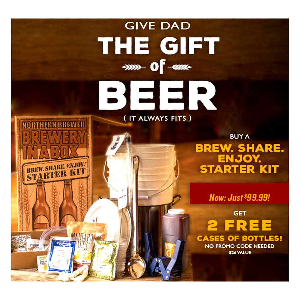 Get 2 Free Cases of Beer Bottles at Northern Brewer Coupon Code