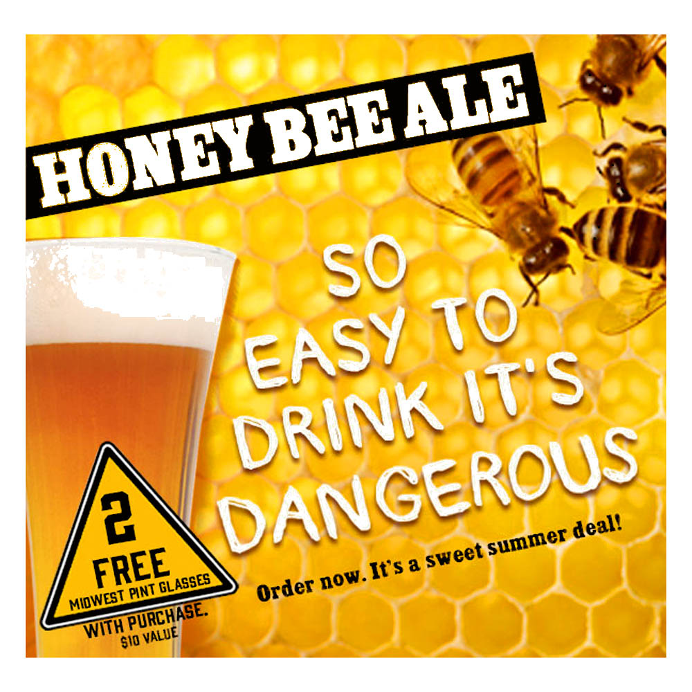 Buy a Midwest Supplies Honey Bee Ale and Get 2 Free Beer Glasses Coupon Code