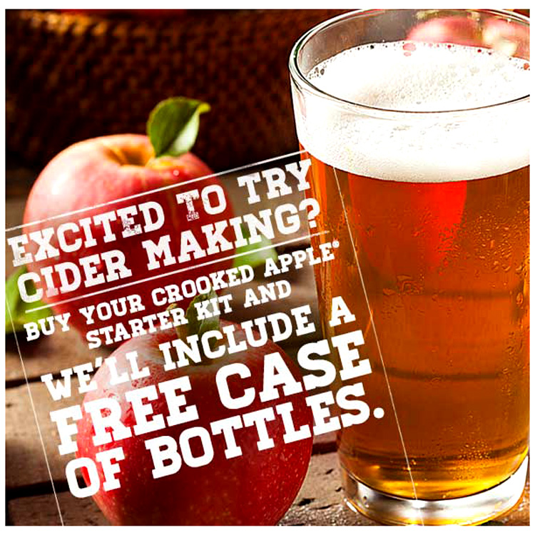 BUY A CIDER STARTER KIT AND GET A FREE CASE OF BOTTLES Coupon Code