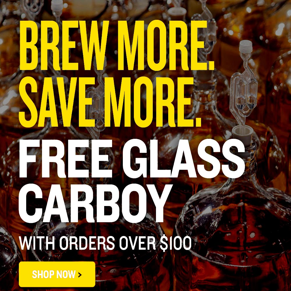 Get a Free Glass Carboy at Northern Brewer on Orders Over $100 Coupon Code