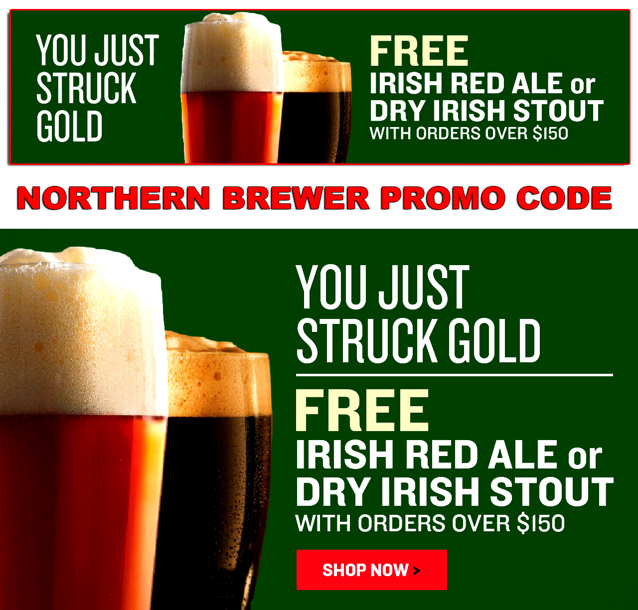 Northern Brewer Get a Free Irish Ale or Irish Stout Beer Kit With This Northern Brewer Promo Code Coupon Code