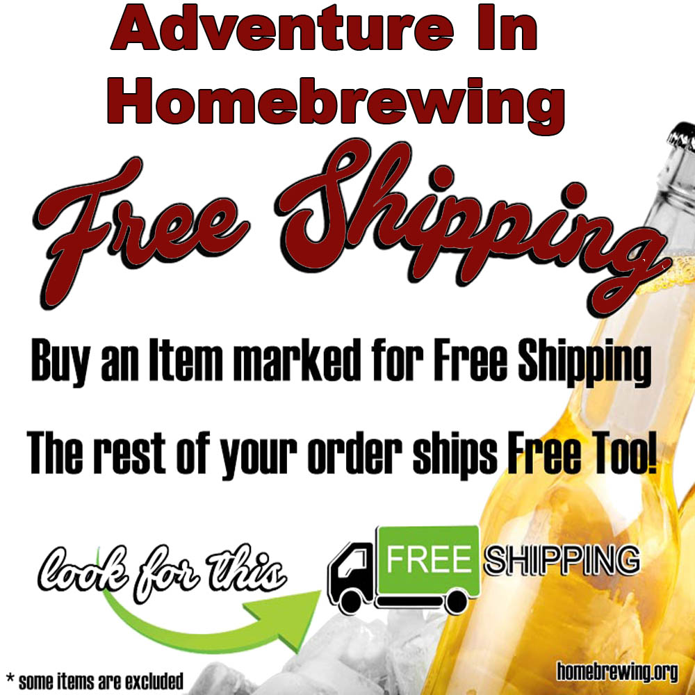 Adventures In Homebrewing Free Shipping Promotion Sale