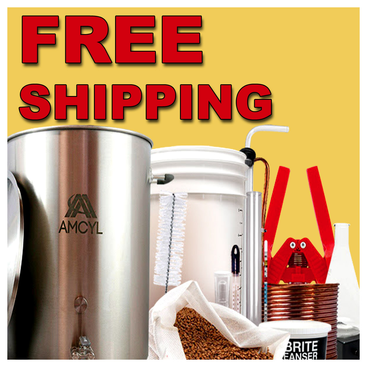 Free Shipping On All Orders Over $50 at Homebrew Supply Coupon Code