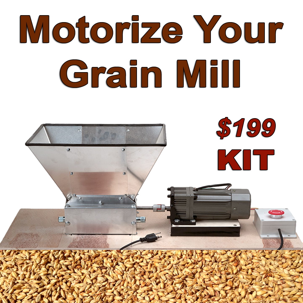 Mortorize Your Home Brewing Grain Mill! Coupon Code
