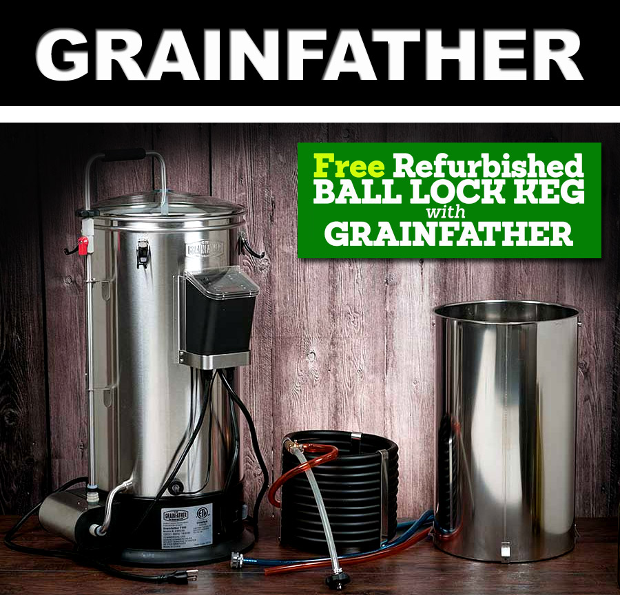Get a FREE Refurbished Ball Lock keg with purchase of a Grainfather Coupon Code