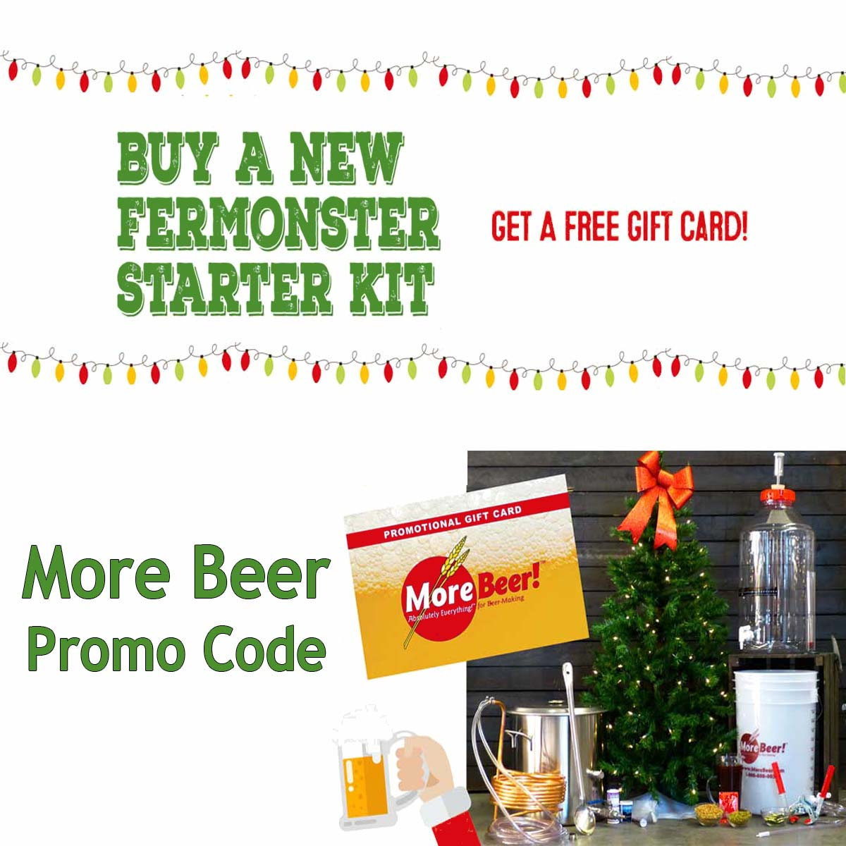 Buy a Home Beer Brewing Kit and Get A Free $20 Gift Card Coupon Code
