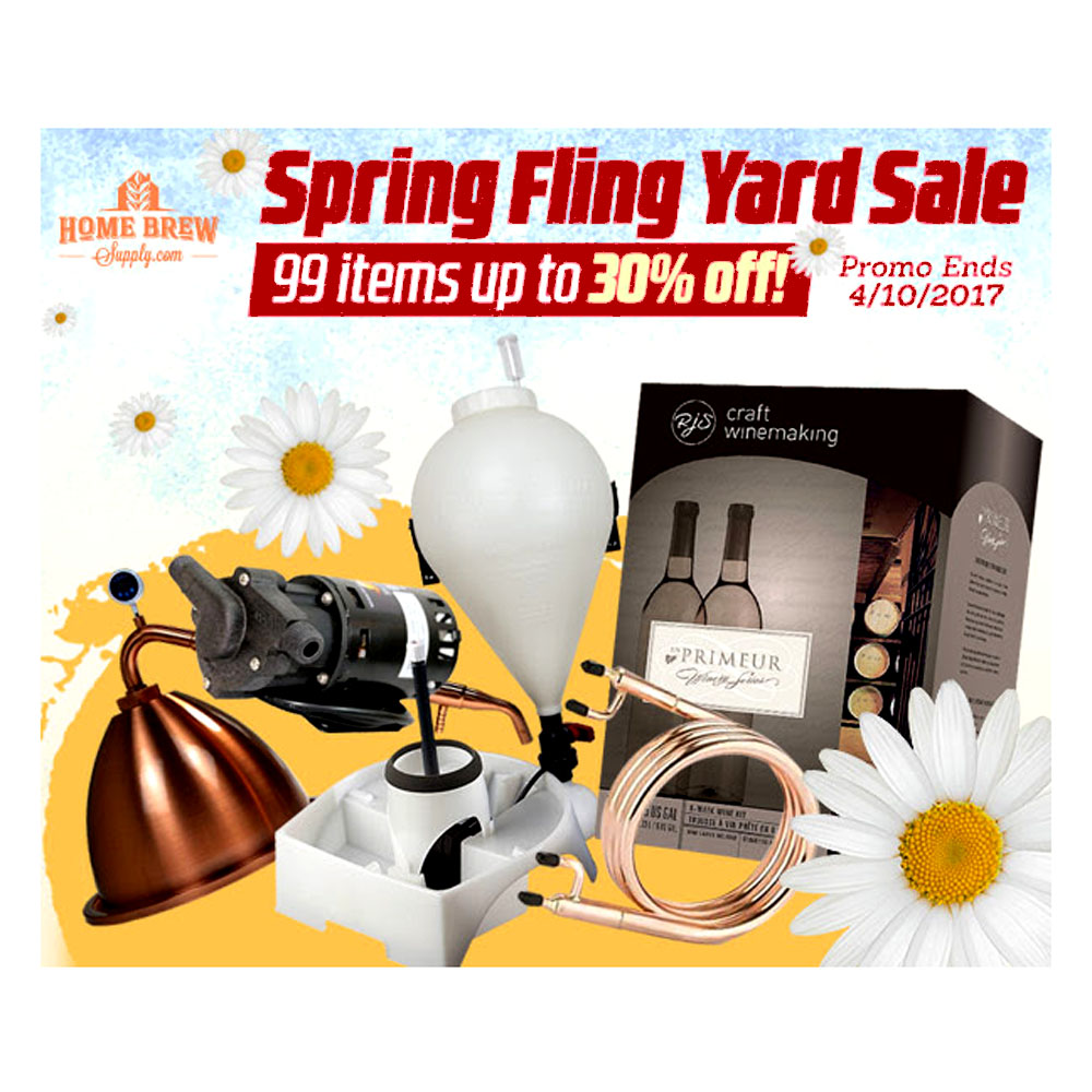 Homebrew Supply Big Homebrewing Sale - Save 30% Coupon Code
