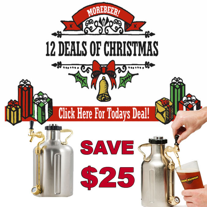 Save $25 on Pressurized Growlers at MoreBeer, Today Only! Promo Codes