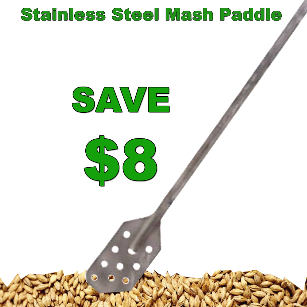 Save $8 On A Stainless Steel Home Brewers Mash Paddle Coupon Code