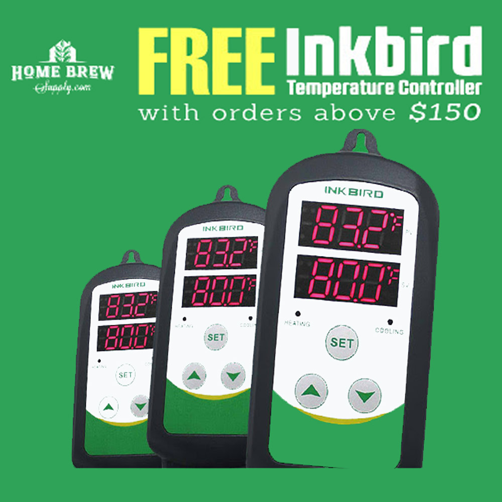 Get a Free Inkbird Digital Temperature Controller on orders $150 or more Coupon Code