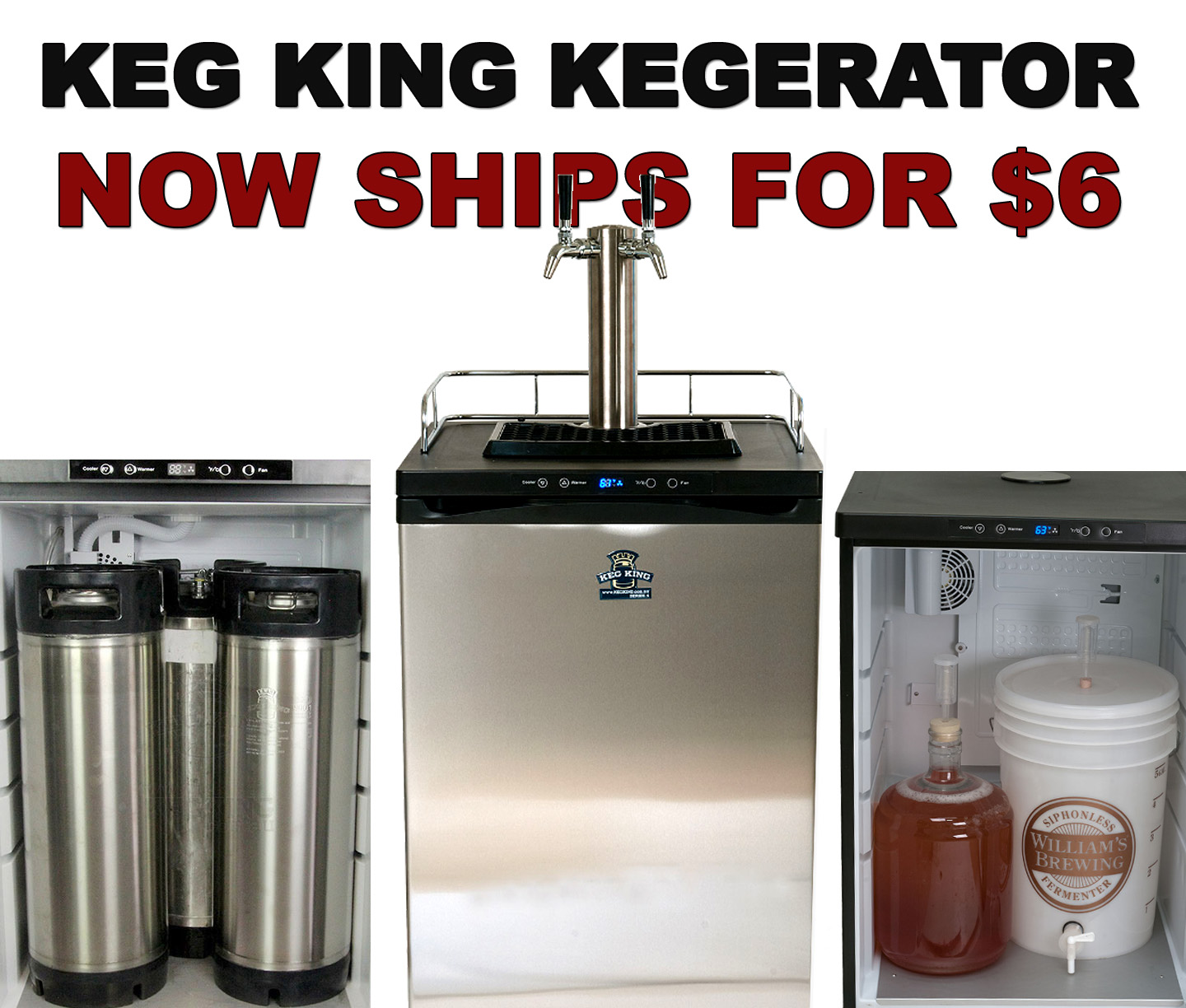 Get $6.99 Shipping On A New Keg King Kegerator Coupon Code