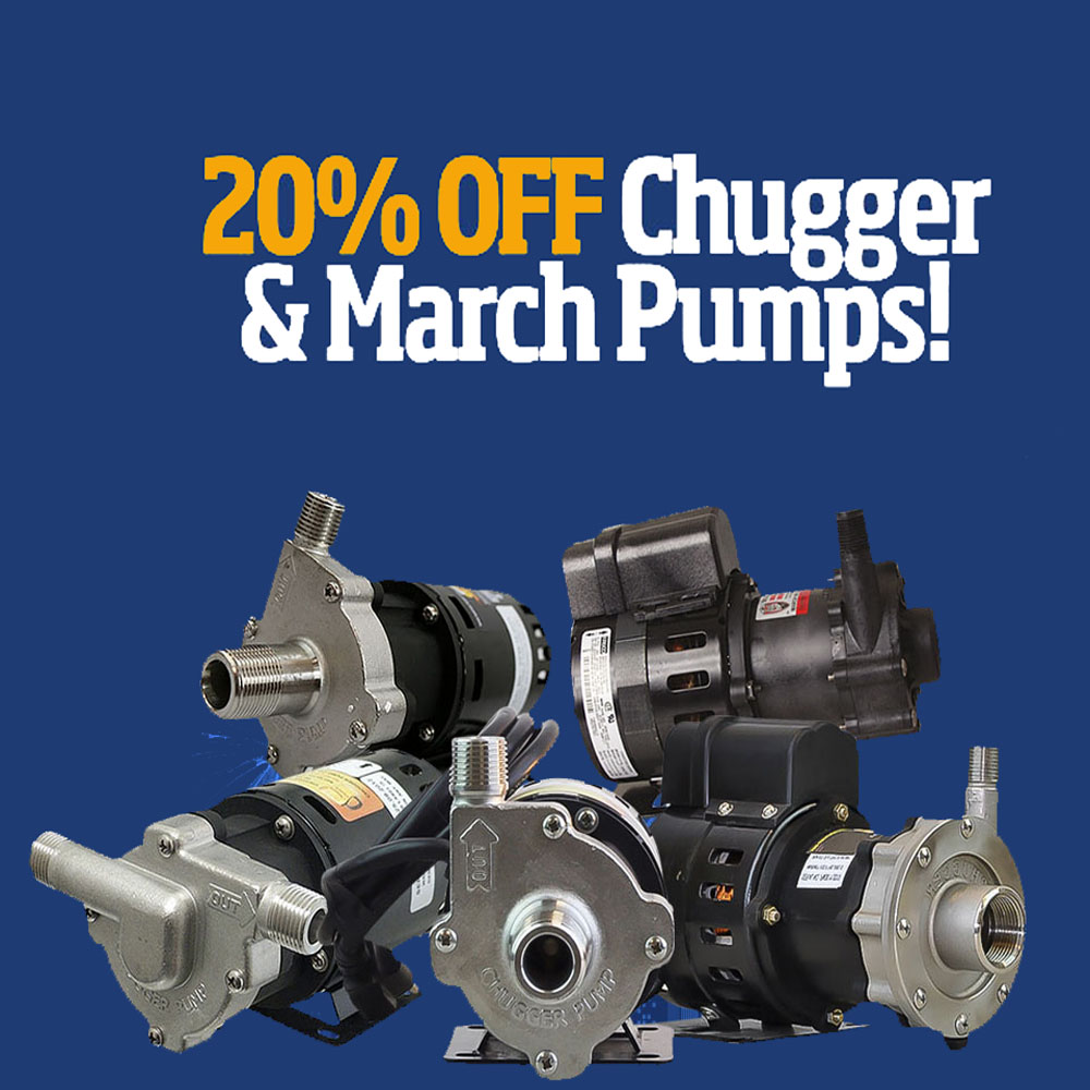 Save 20% On Chugger and March Pumps Coupon Code