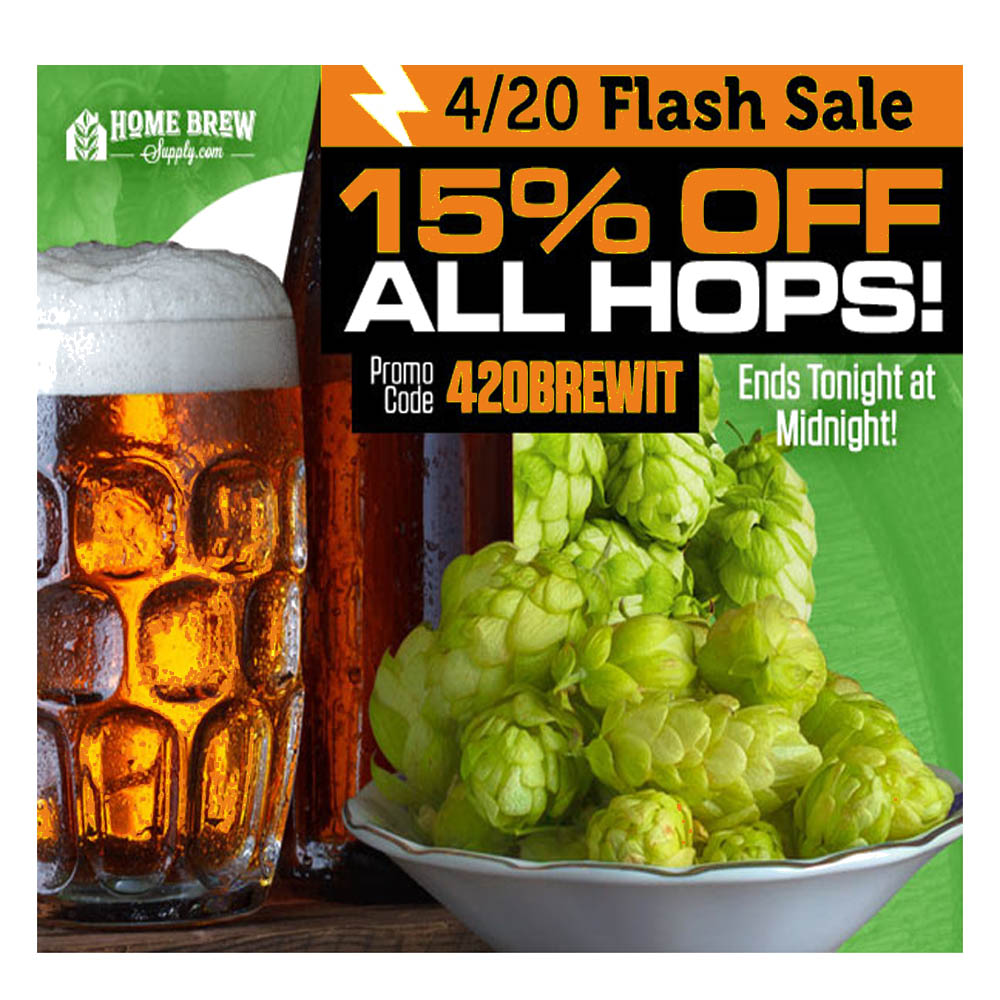 Save 15% On All Hops at HomebrewSupply.com Coupon Code