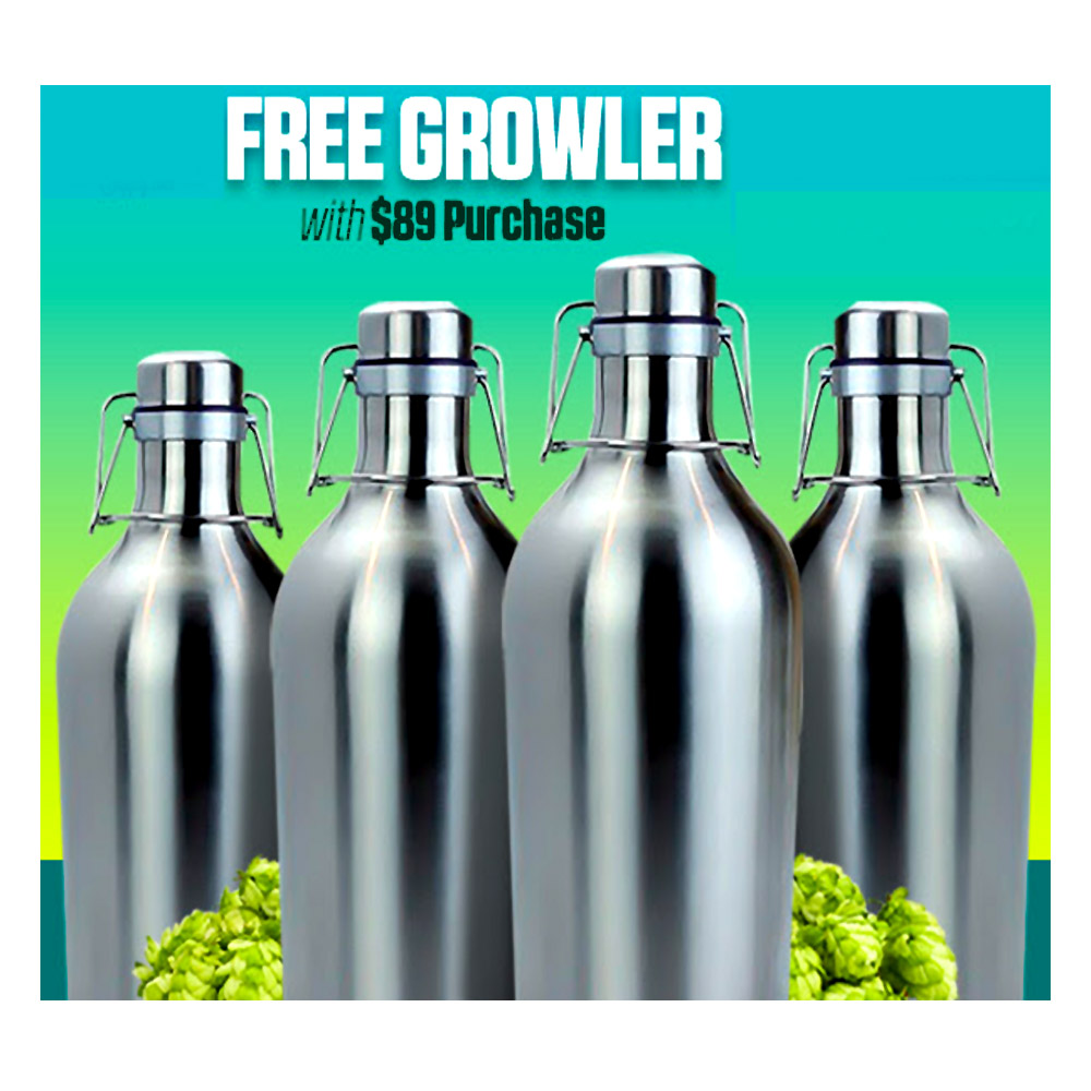 Get a Free Stainless Steel Growler with a $89+ Purchase Coupon Code