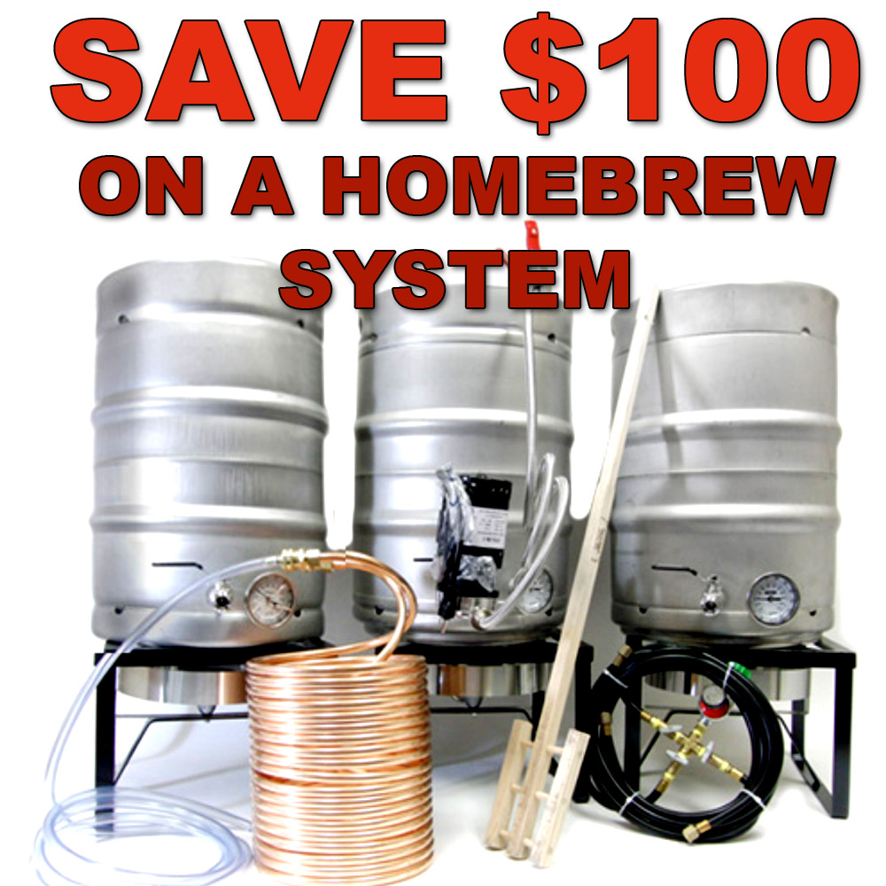 Save $100 On A New Home Beer Brewing System Sale