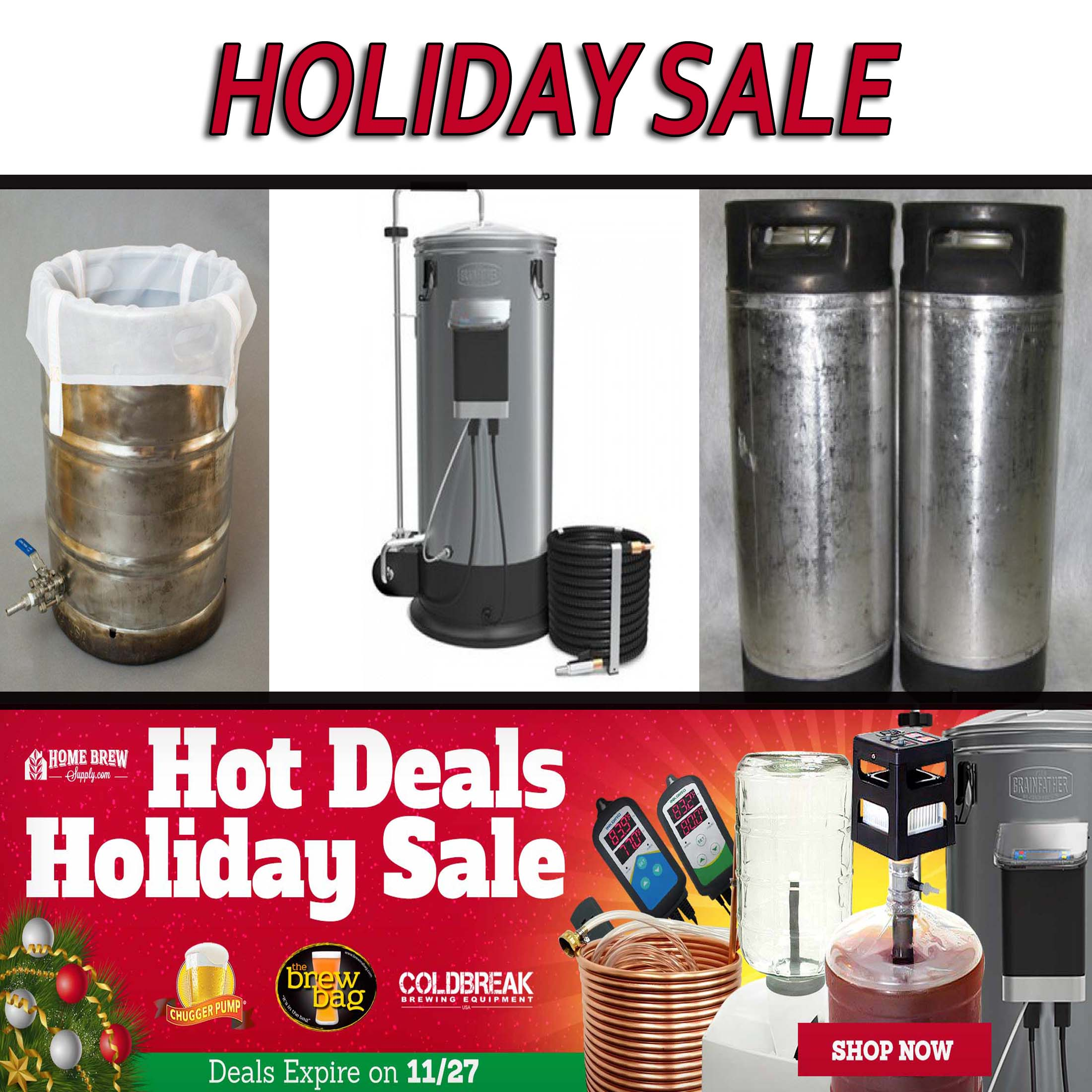 Save Big on Homebrewing Gear - 2-Day Holiday Sale Promo Codes