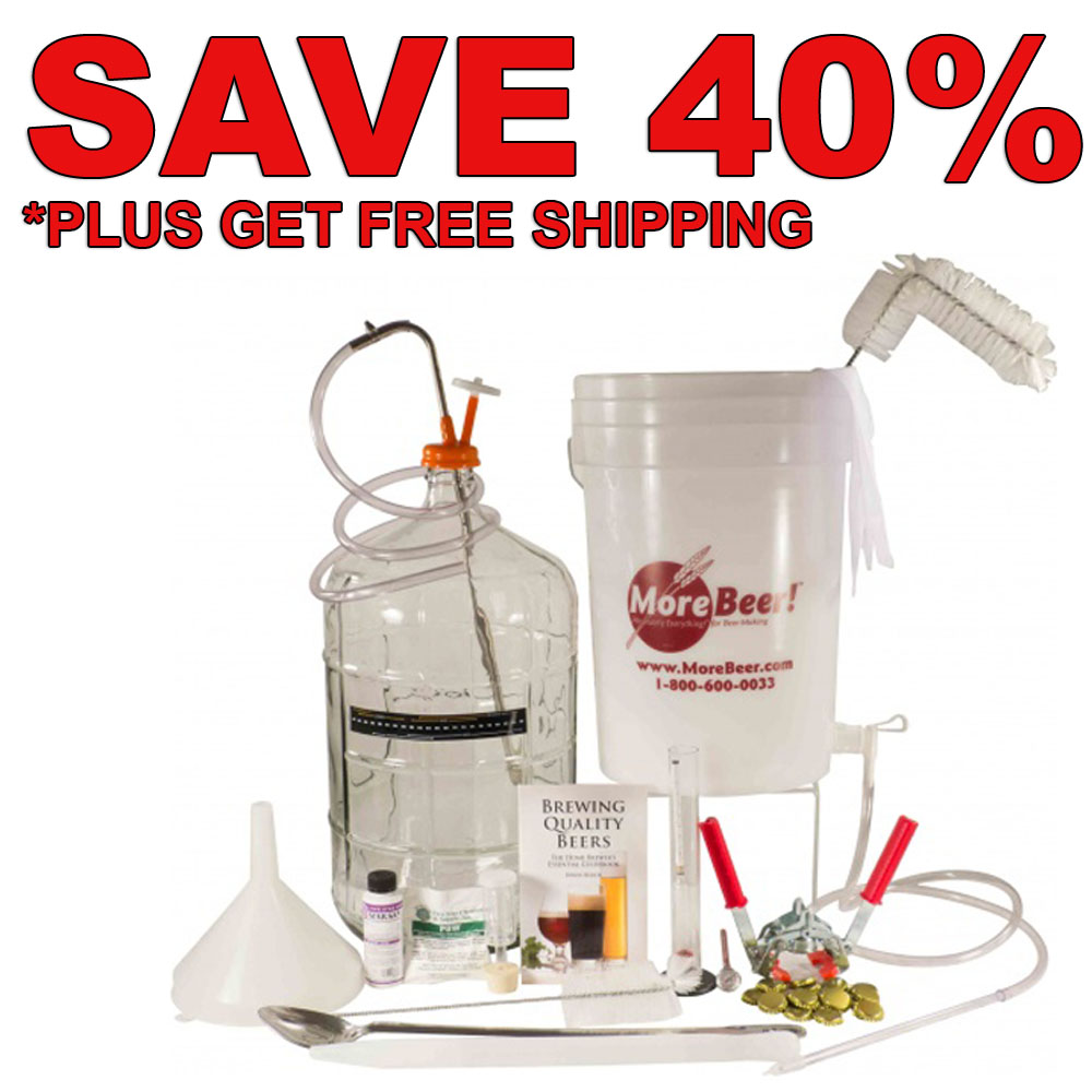 Save 40% On A Deluxe Home Beer Brewing Kit + Free Shipping Coupon Code