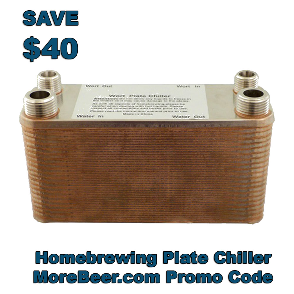 Save $40 on a 40 Plate Wort Chiller Coupon Code
