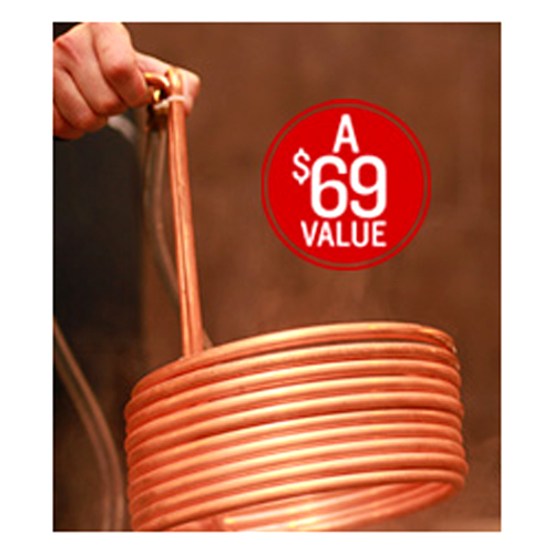 Free Wort Chiller with $125 Purchase Coupon Code Coupon Code