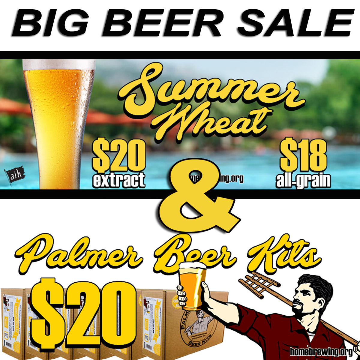 Big Beer Sale - Palmer Homebrewing Beer Kits For Just $20 Sale