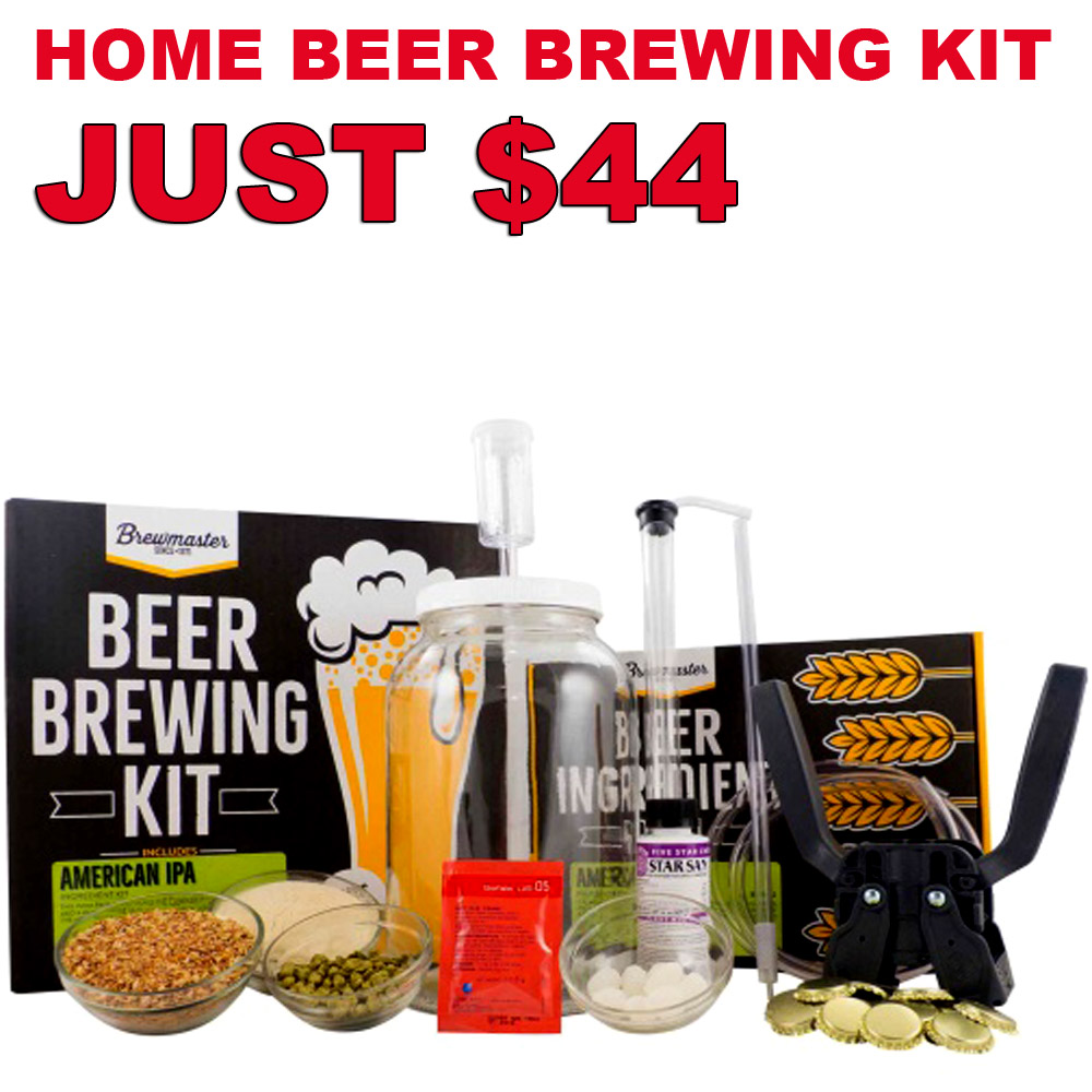Today Only Get A 1 Gallon IPA Home Beer Brewing Kit For Just $44 Coupon Code