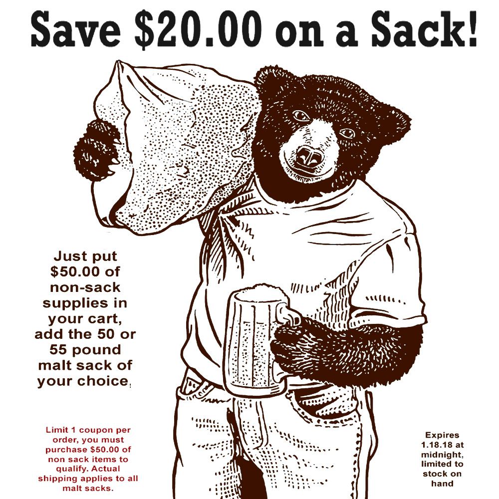 Save $20 On A Sack Of Grain At WilliamsBrewing.com With Promo Code Coupon Code