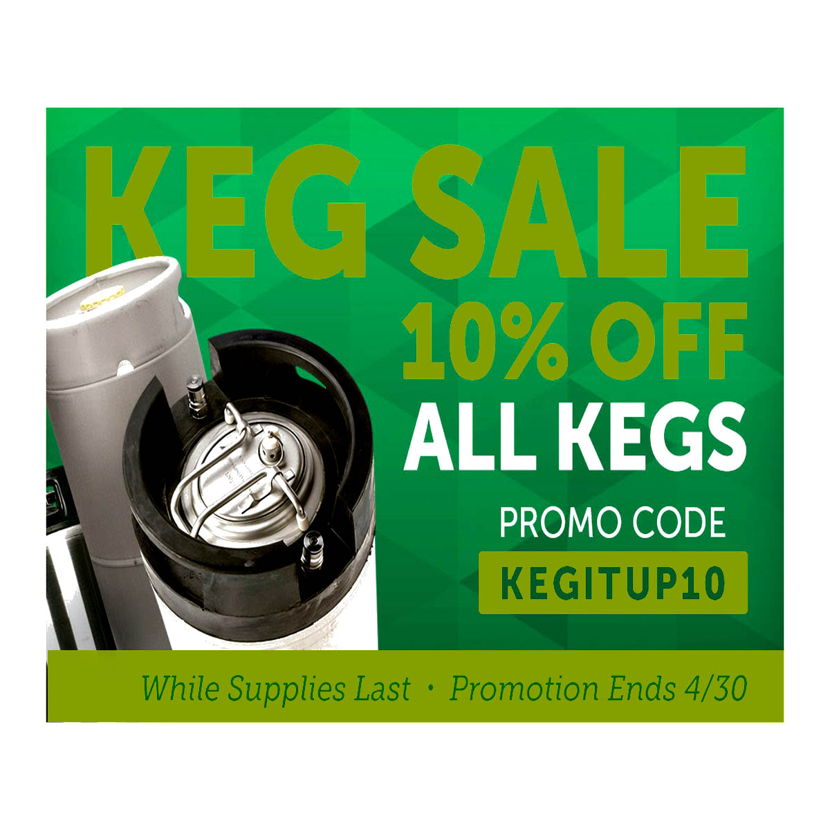 Save 10% Off All Kegs at Homebrew Supply Coupon Code
