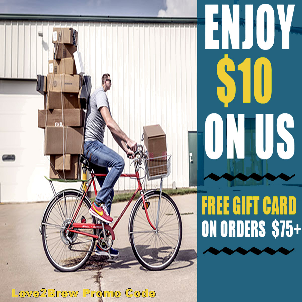Love2Brew Get A Free $10 Giftcard When You Spend $75 and use this Love 2 Brew Promo Code Coupon Code