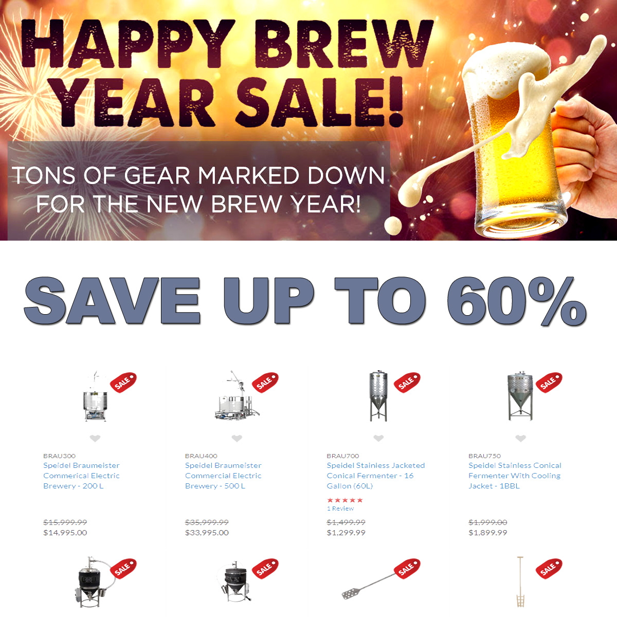 MoreBeer Save Up To 60% On Poplular Home Brewing Items During The More Beer Happy Brew Year Sale! Coupon Code