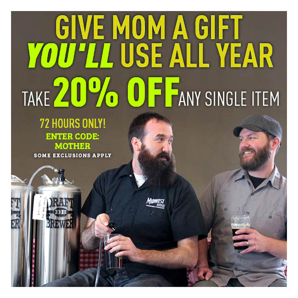20% Off Any One Homebrewing Item Promo Code Coupon Code