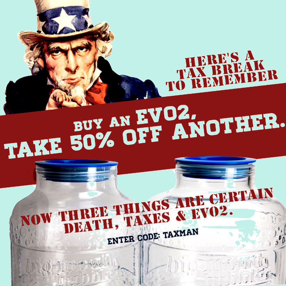 BUY AN EVO 2 WIDE MOUTH FERMENTER AND TAKE 50% OFF ANOTHER Coupon Code