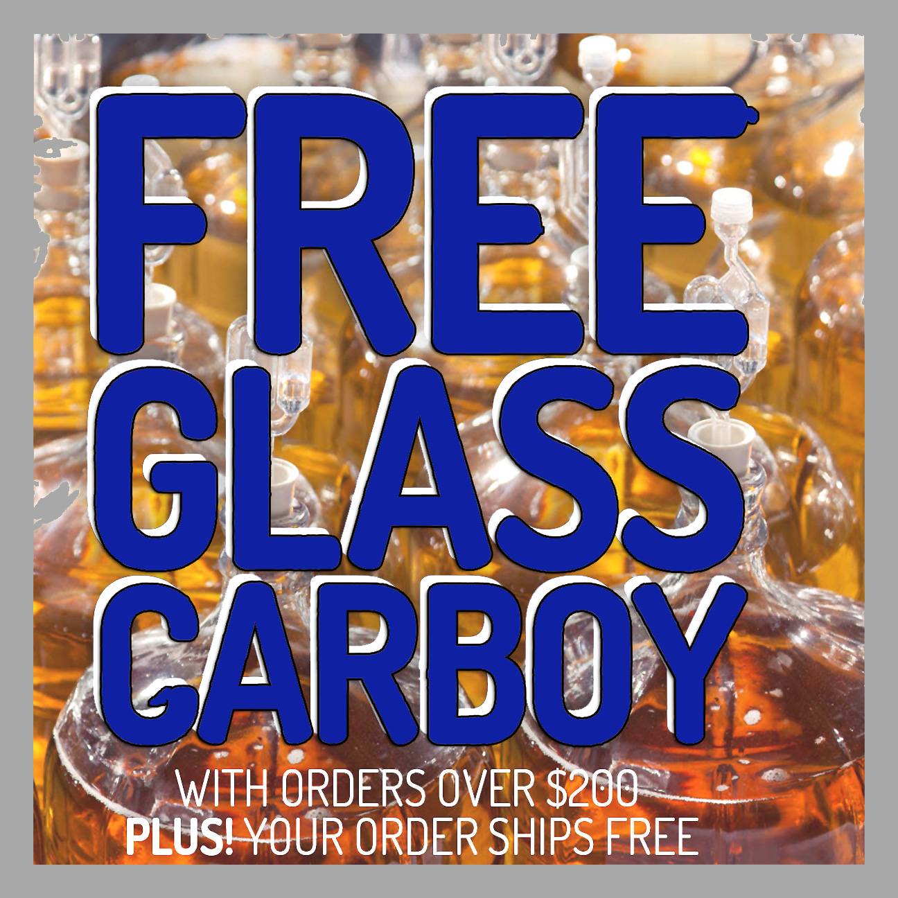 Midwest Supplies Spend $200 at MidwestSupplies.com and get a Free Carboy with this Midwest Supplies Promo Code Coupon Code