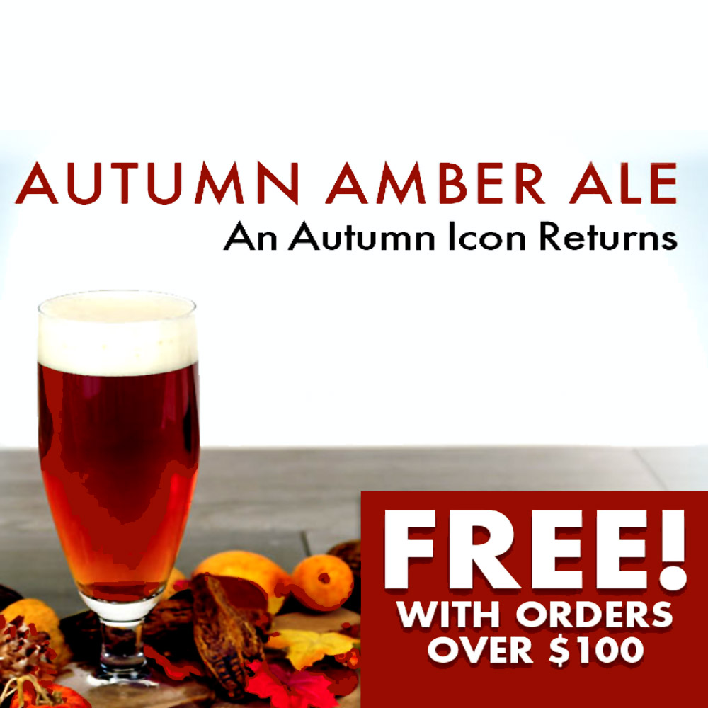 GET A FREE AUTUMN AMBER ALE WITH MIDWEST SUPPLIES ORDERS OVER $100 Coupon Code