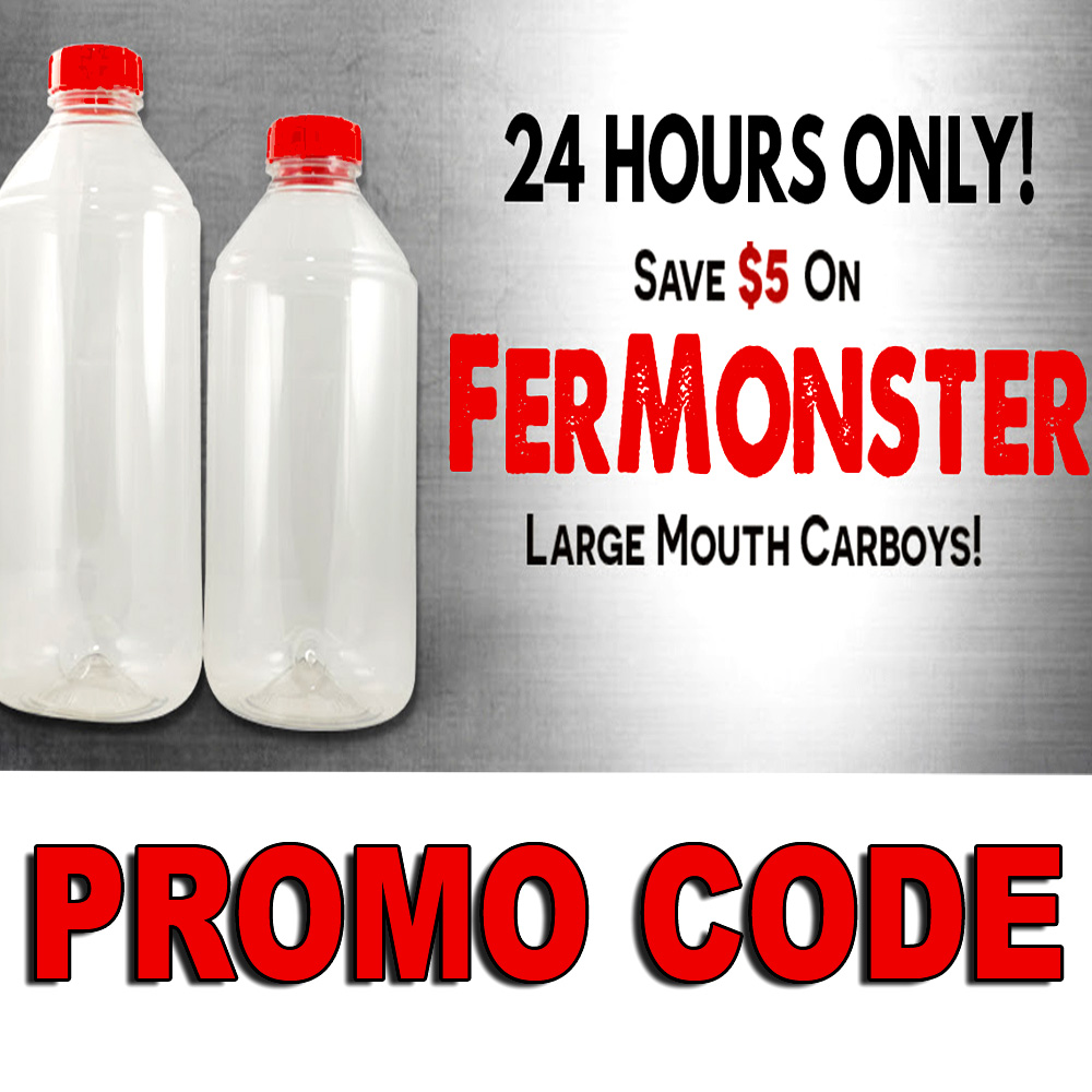 Save $5 On Fermonster Large Mouth Plastic Carboys Sale