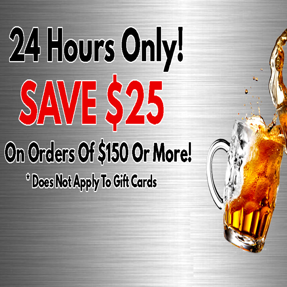 More Beer Promo Code! Save $25 On Orders Of $150 Or More Coupon Code