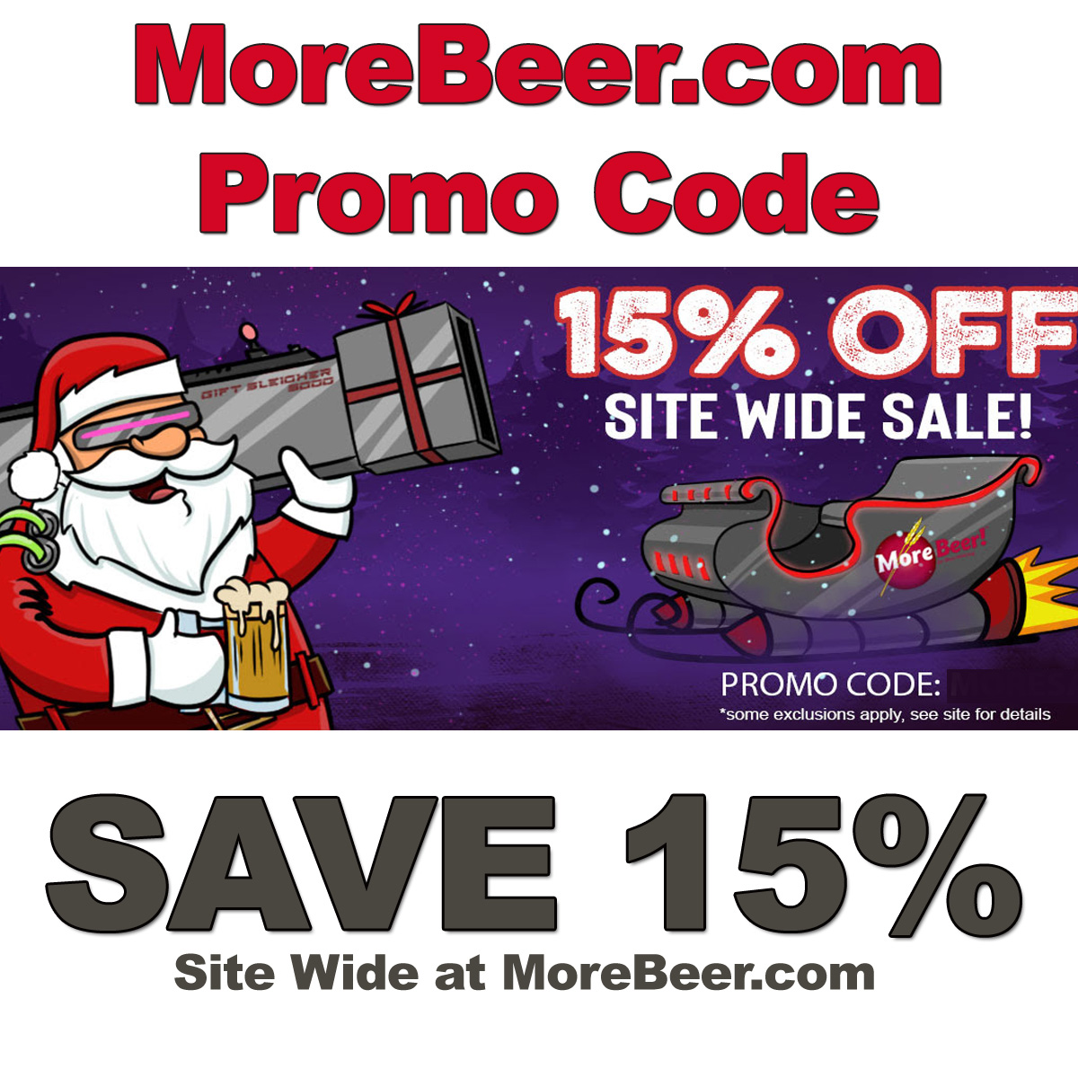MoreBeer Save 15% Site Wide at MoreBeer.com with this More Beer Promo Code for December Coupon Code